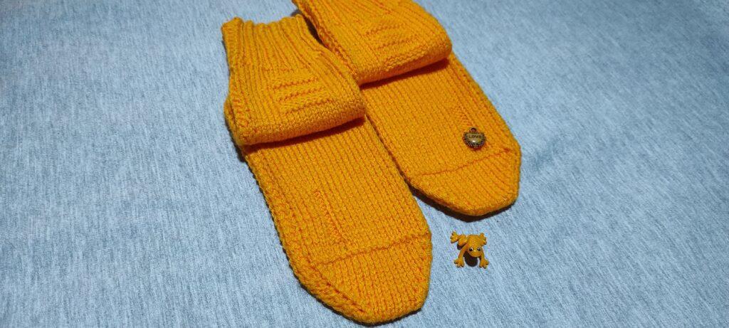 носки спицами без швов